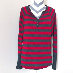 Anthropologie Michael Stars Knit Striped Henley